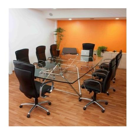 Mesa de cristal para sala de juntas dv 360 for Sillas para sala de juntas