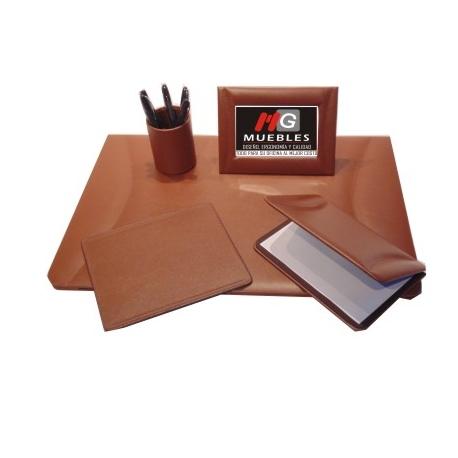 Juego de escritorio en piel ap je02k mg muebles - Juego de escritorio ...