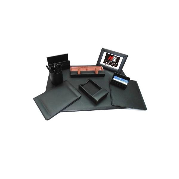 Juego de escritorio en piel ap je01 mg muebles - Juego de escritorio ...