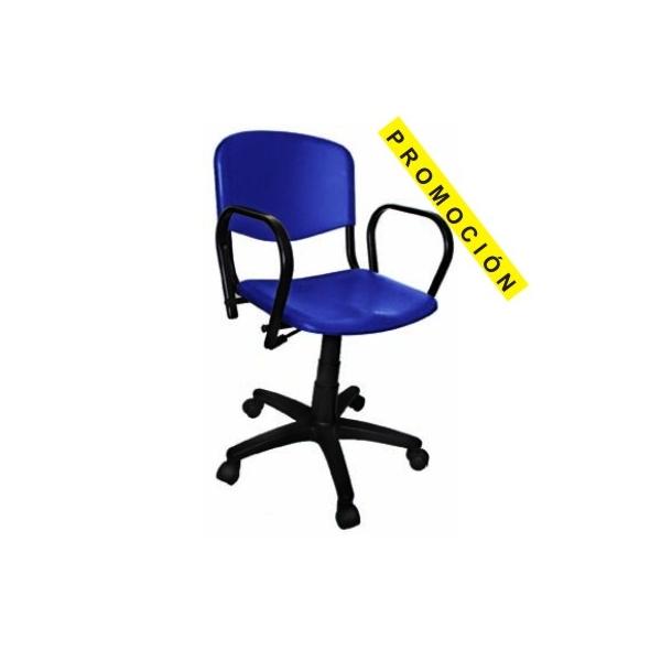 Silla secretarial con brazos pkb300 for Silla escritorio con brazos