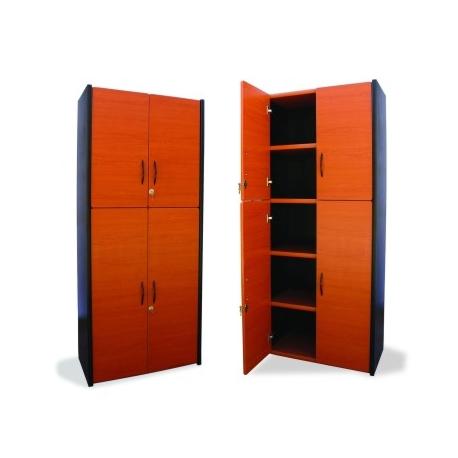 mueble tipo librero 4 puertas l4p mg muebles