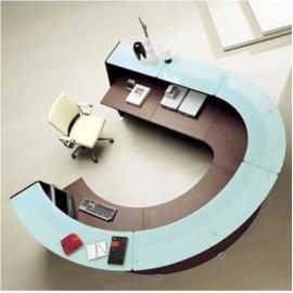 Módulos de recepción y muebles para recepción.