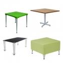 Mesas cuadradas y mesas de centro