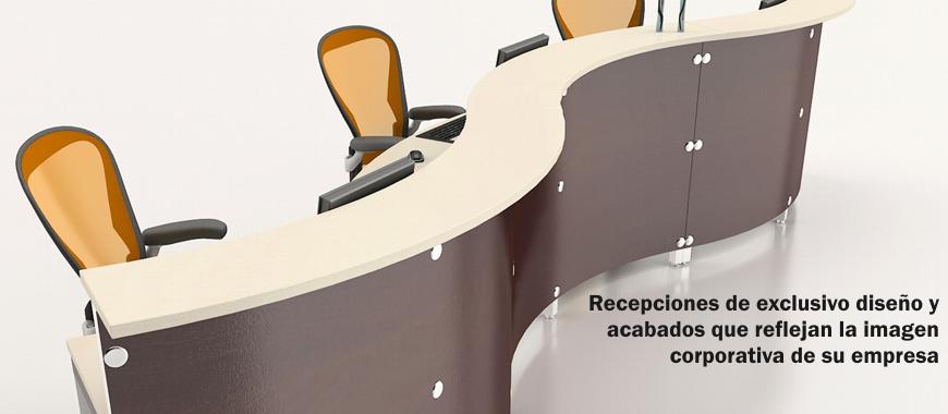 Recepciones de exclusivo diseño y acabados que reflejan la imagen corporativa de su empresa